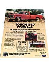 1980 Ford F-150 Ranger Pickup Truck Vintage Advertisement Print Car Ad J440