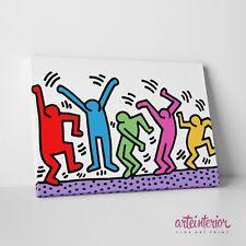 Keith HARING The Dancers 2 STAMPA SU TELA - QUADRO MODERNO PRONTO DA APPENDERE