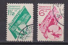 NVPH Netherlands Nederland nr 238 - 239 used 1931 Goudse Glazen Pays Bas