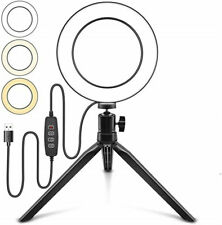 LED Ring Light Lamp Phone Selfie Camera Studio Video Dimmable Tripod Stand TBB#