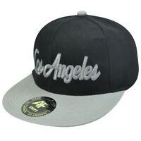 HAT CAP GORRA CHAPEU LOS ANGELES SNAPBACK ACADEMY FITS FLAT BILL BLACK GRAY SNAP