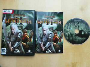 LORD OF THE RINGS THE BATTLE FOR MIDDLE-EARTH II PC DVD ROM GAME COMPLETE