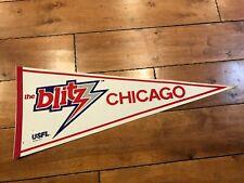 "Vintage CHICAGO BLITZ 1982 USFL Full Size Pennant 30"""