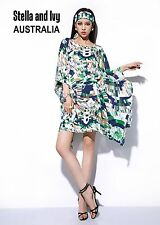 ABSTRACT KAFTAN COCKTAIL DRESS SIZE 14 AU WOMENS NEW