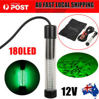 180LED 12V Underwater Submersible Night Fishing Light Crappie Shad Squid Boat AU