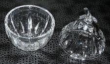 Birnendose mit Deckel, Bleikristall! Katharinen-Hütte, Marmeladenglas,Honig oder