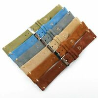Suede Leather Watch Band Strap Wristwatch Band For Fossil Seiko Tissot 20mm 22mm