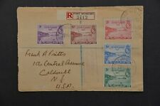 PAPUA 1939 censor cover to USA. Registered