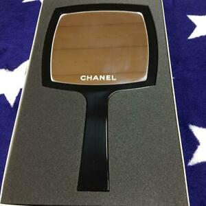 CHANEL Hand Mirror Novelty Genuine CHANEL cosmetic counter Limited japan Black