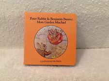 """Peter Rabbit & Benjamin Bunny: More Garden Mischief~1983~Mini-book~3.5""""x3.5"""""""