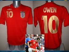England Michael Owen Shirt Jersey Football Soccer Adult 3XL Vintage Uniform Top