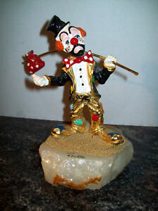 1986 RON LEE HOBO HITCHHIKER CLOWN,  SIGNED MINT