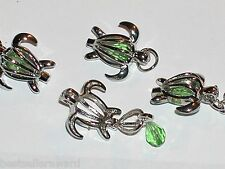 1pc. Turtle cage Pendant metal locket findings small necklace charm NEW*~