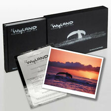 "Wyland Fine Art Book Signed ""Visions of the Sea "" with Original Thumb Print COA"
