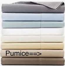 Hudson Park SHEETS 600 THREAD COUNT NEW Egyptian TWIN XL DEEP FITTED PUMICE BVP