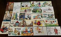 ~LOT of 25~COMIC POSTCARDS~HUMOR ~FUNNY~Risque~Fishing~Animals~UNUSED---b301