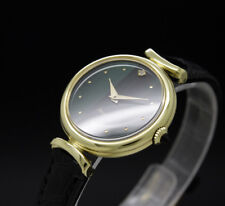 New Old Stock Ladies THERMIDOR PARIS green + stone, hiden lugs vintage watch NOS