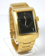 Authentic Evisu Mens Dress Watch Gold-Tone Analog-Digital EV-7014-44