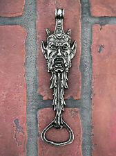 Bacchus Bottle Opener 6 5 Devil Demon Dionysus Green Man Antiqued Finish