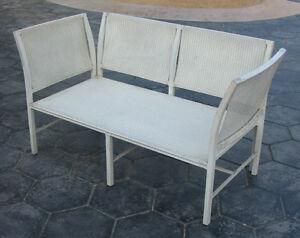 """Vintage Brown Jordan """"Regent"""" Patio Indoor/Outdoor Sofa, Settee"""