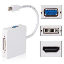 Adattatore Convertitore 3 in 1 Mini DP DisplayPort a HDMI DVI VGA - Bianco