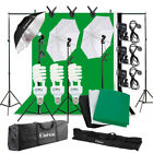 Photography Studio Continuous Lighting Kit Light Stand Kit with Backdrop Set