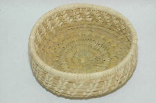 Vintage Papago Woven Bear Grass,Devil Claw & Yucca Design Basket bowl 6.75""