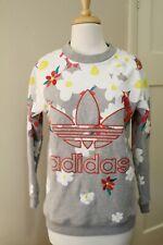 adidas Navy Floral Burst Superstar Track Jacket Size 4 (S)