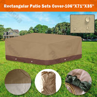 Premium Waterproof Furniture Cover For Rectangular Patio Set Table Chairs BS08P