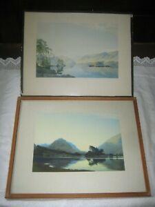 2 Vintage W Heaton Cooper Prints Framed 'After Sunset-Grasmere'