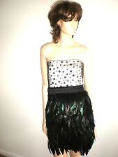 NWT XENIYA SILK FEATHER SKIRT  EVENING DRESS SIZE 4 $330