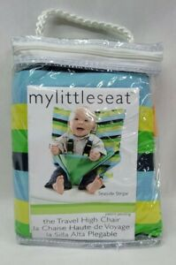 New MY LITTLE SEAT Travel High Chair Seaside Stripe.  Free Shipping!