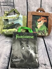 3 SUBWAY DISNEY LUNCH BAGS LION KING FRANKENWEENIE BRAVE CLEAN SMALL TOTES (H15)