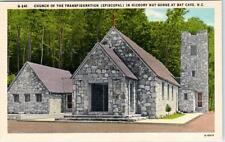 BAT CAVE, NC   Hickory Nut Gorge CHURCH of the TRANSFIGURATION  c1940s  Postcard