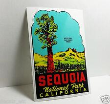 SEQUOIA NATIONAL PARK CALIFORNIA Vintage Style Travel DECAL / Vinyl STICKER