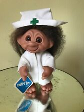 "1977 8"" Thomas Dam Denmark Troll Nurse With Original Tags Mint Condition"