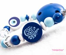 Schnullerkette mit Namen  ★ Nazar  ★ Mashallah ★ Baby Junge Geschenk  ★ Arabisch