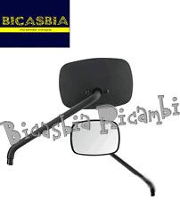 6991 - SPECCHIO SINISTRO NERO OPACO RETTANGOLARE VESPA 50 125 150 S