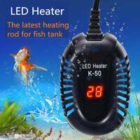 25/100W Aquarium Heater Fish Tank LED Digital Submersible Adjustable Thermostat