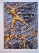1940 WESTCHESTER VS ALBRIGHT COLLEGE FOOTBALL GAME PROGRAM - BOX RH-4