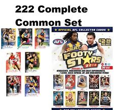 2018 AFL SELECT FOOTY STARS 222 COMPLETE COMMON CARDS FULL BASE SET 18 TEAMS