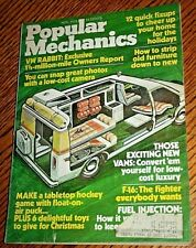 Popular Mechanics Magazine Nov. 1975 Vol. 144 No.5 - VW RABBIT, CONVERT 'EM VANS