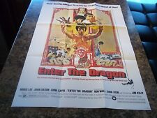 BRUCE LEE ENTER THE DRAGON LARGE MOVIE POSTER