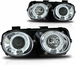 WINJET OE-Style LED DRL Halo Projector Headlights - Fits 1998-2001 Acura Integra