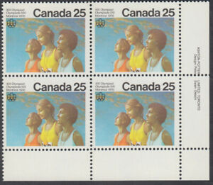 Canada - #683 Olympic Ceremonies Plate Block - MNH