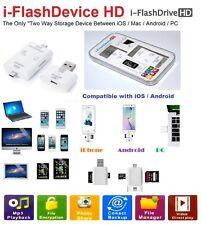 iOS Android iPhone iPad iPod Samsung USB i-Flash Drive MicroSD TF Card Reader