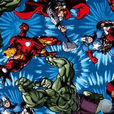 140106210 -New Avengers United Marvel Hulk Iron Man Thor Captain America Fabric