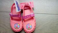 M&S Peppa Pig Slip On Lightweight Clogs Style Sandals summer shoes UK 12 BNWT ^