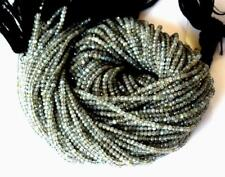 """FINE MICRO FACETED NATURAL LABRADORITE BEADS ROUND 2.5 MM 1 LINE 12.5"""" #D14904"""