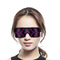 New LED Glasses Glowing Light Flashing Sunglasses Decorative Gift Party Festival